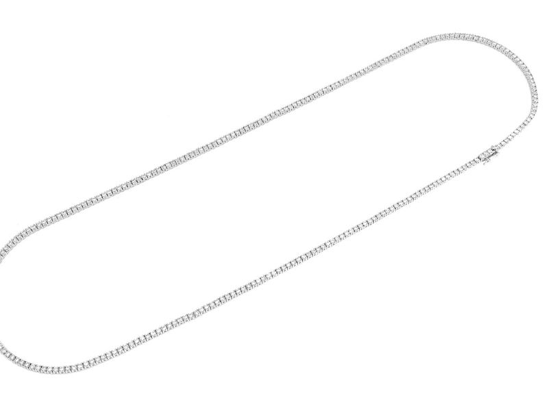 2pt Tennis Necklace 14K   5.50ctw