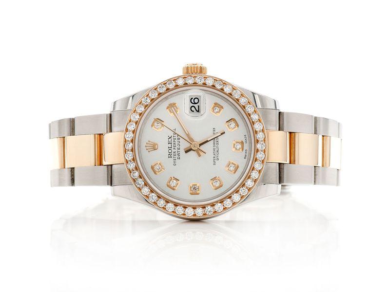 Rolex Datejust 1.12ctw 18K/SS