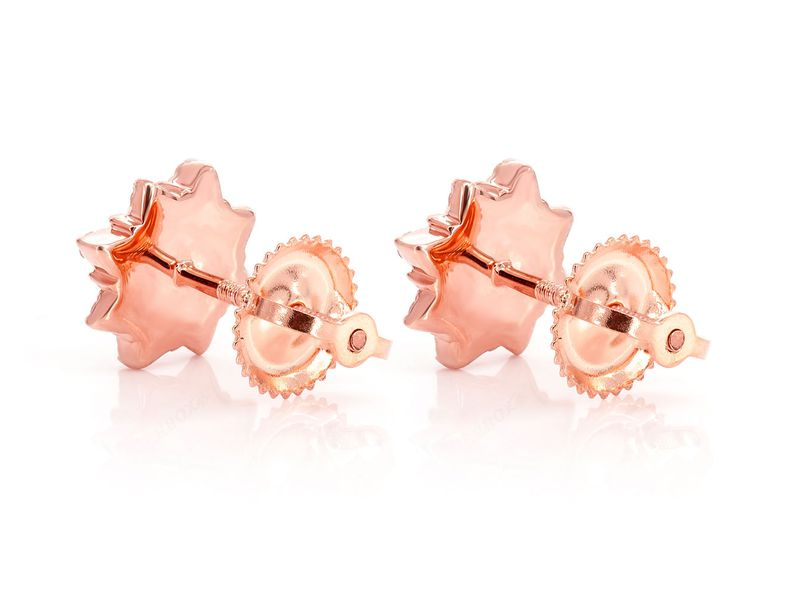 8 Point Star Stud Earrings 14K   0.18ct