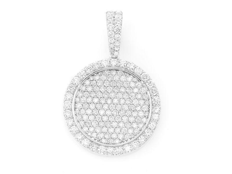 Kai Medallion Diamond Border Pendant 14K   1.96ctw