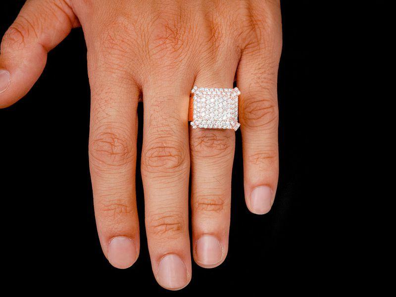 Emerald Shape Signet  Ring 14K   2.34ctw