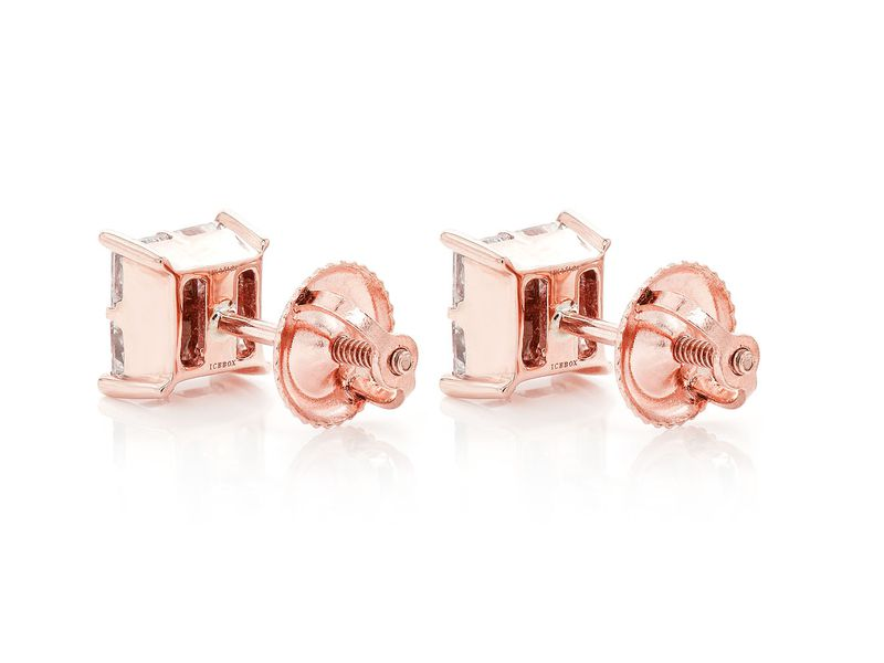 Princess Cut Quad Earrings 14K   0.25ctw