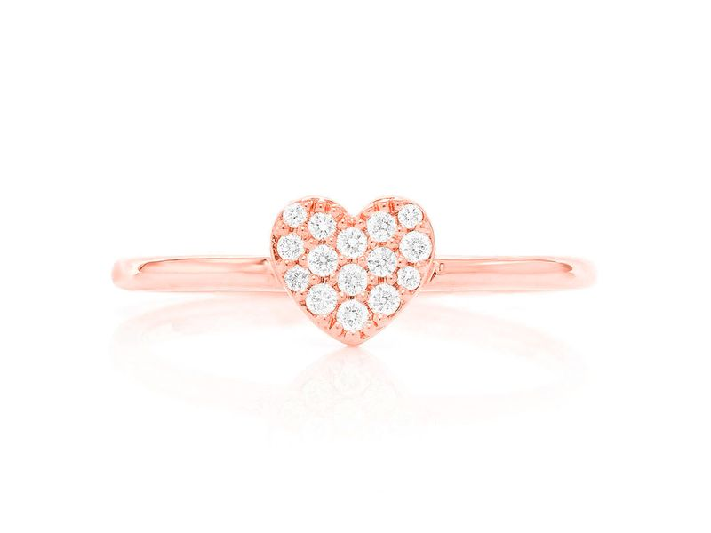 Petite Heart Promise Collection Ring 14K   0.11ctw