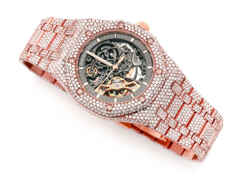 Pre-owned Audemars Piguet Skeleton 41MM 18K  ICED OUT