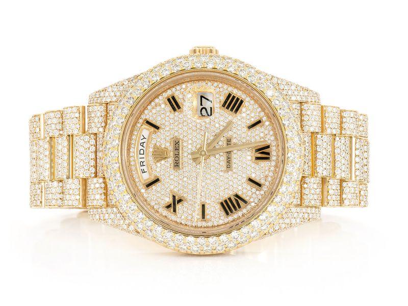 Rolex Day-Date 18K  19.89ctw