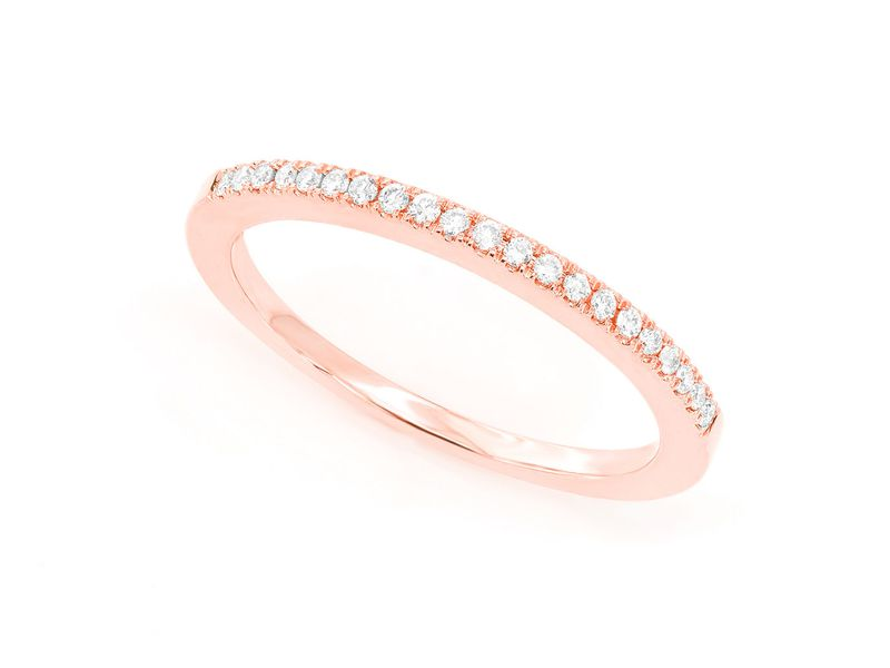 Single Row Diamond Ring 14K   0.12ctw