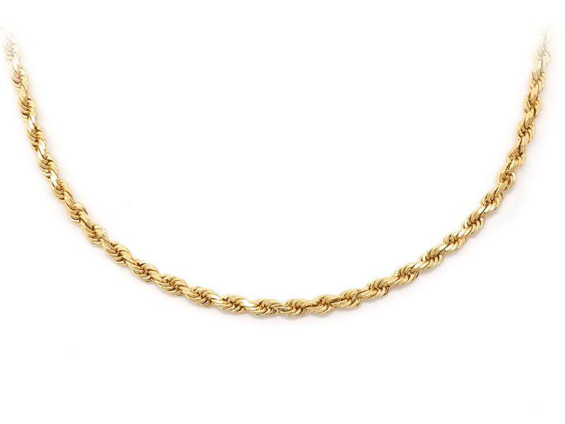 2.5mm Rope 14K   Bracelet