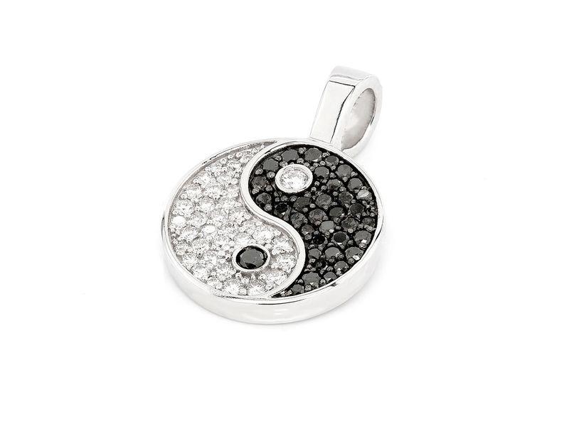 Yin Yang Pendant 14K   0.80ctw
