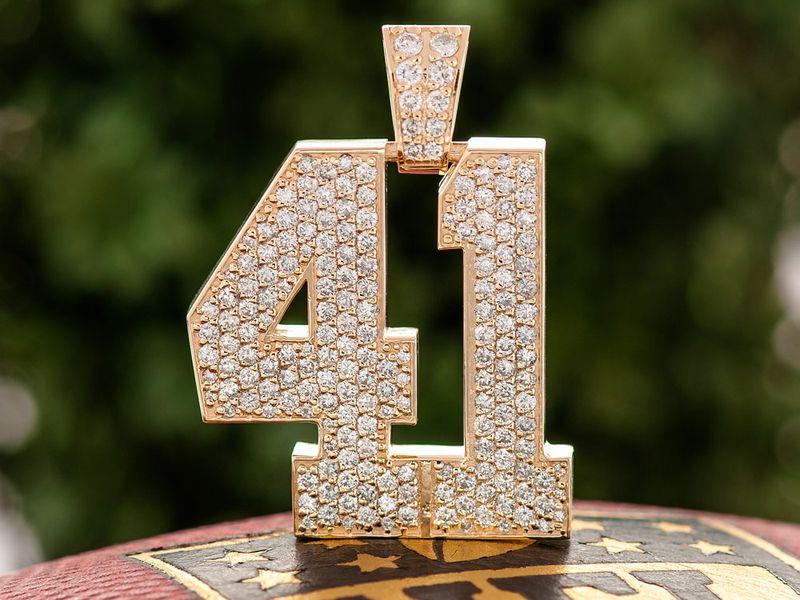 Custom Large Jersey Letters 14K