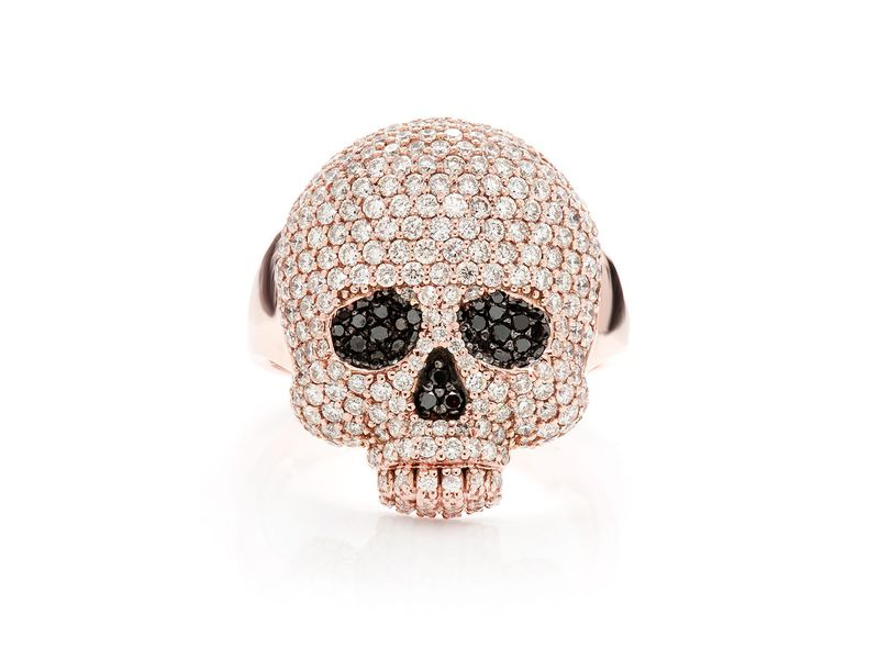 Jawless Skull Ring 14K   2.65ctw