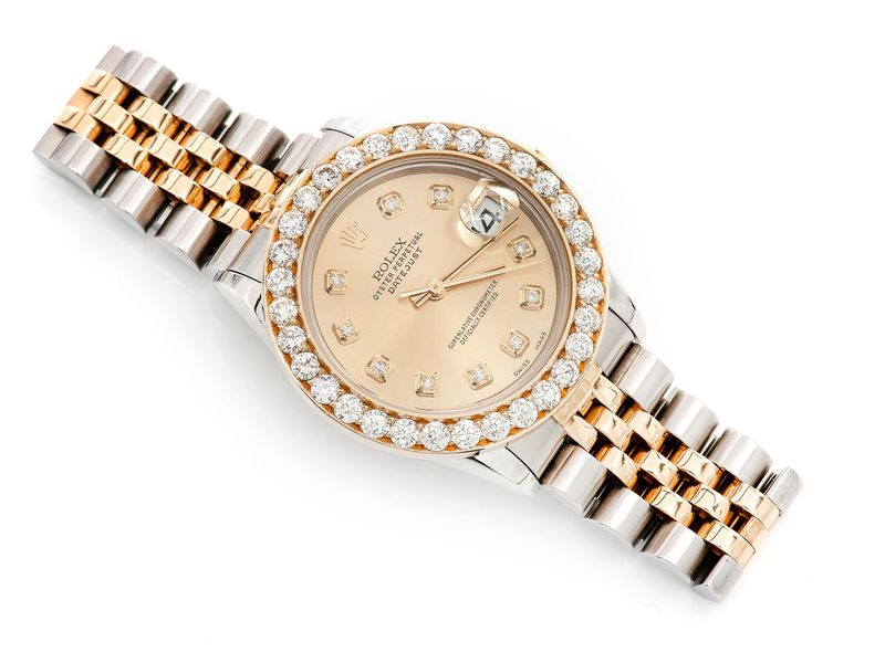 Pre-owned Rolex Datejust 31mm 18K/SS  2.53ctw