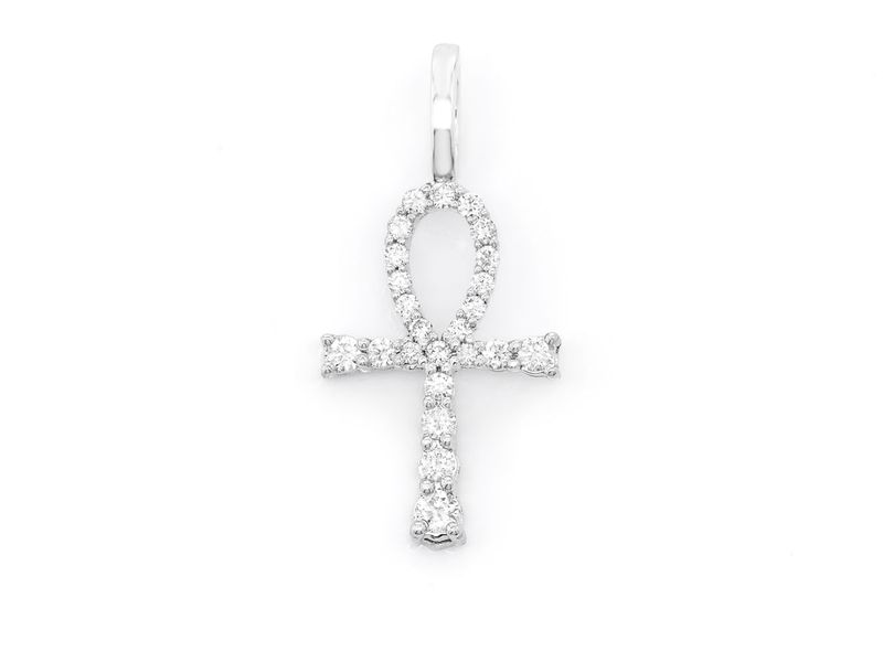 Diamond Ankh Pendant 14K   0.30ctw