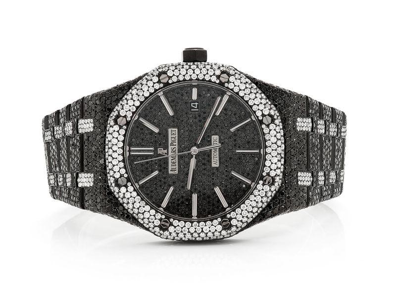 Audemars Piguet Black & White Diamonds Plain Stainless