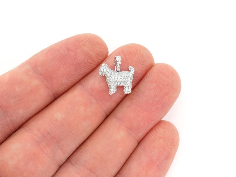 Standing Goat Extra Small Pendant 14K   0.52ctw