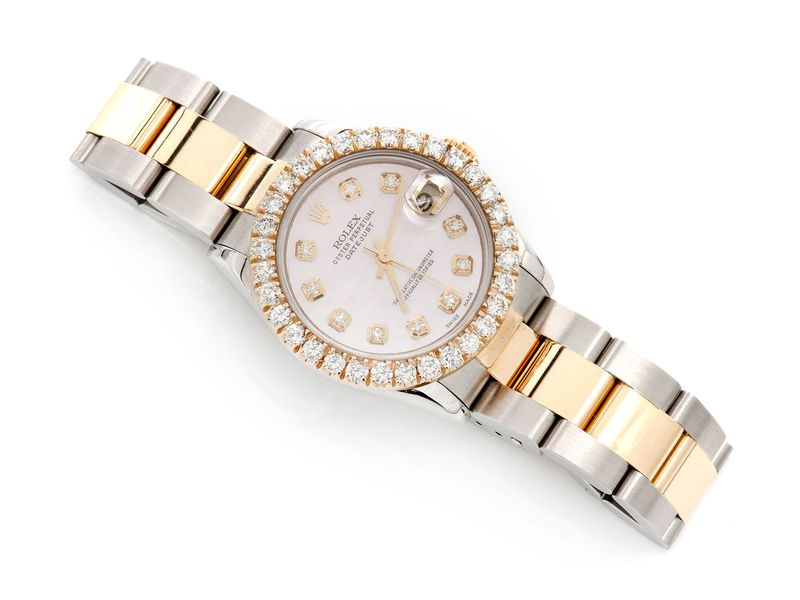Pre-owned Rolex Datejust 31mm 18K/SS  2.16ctw