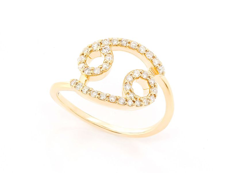 Cancer Zodiac Nelie Ring 14K   0.21ctw