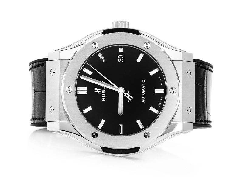 Hublot Classic Fusion Stainless  Black Strap
