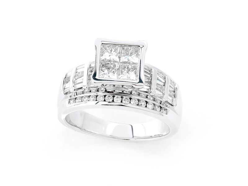 Engagement Ring 18K   1.48ctw