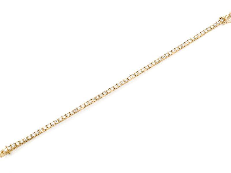 Diamond Bracelet 14K   5.04ctw
