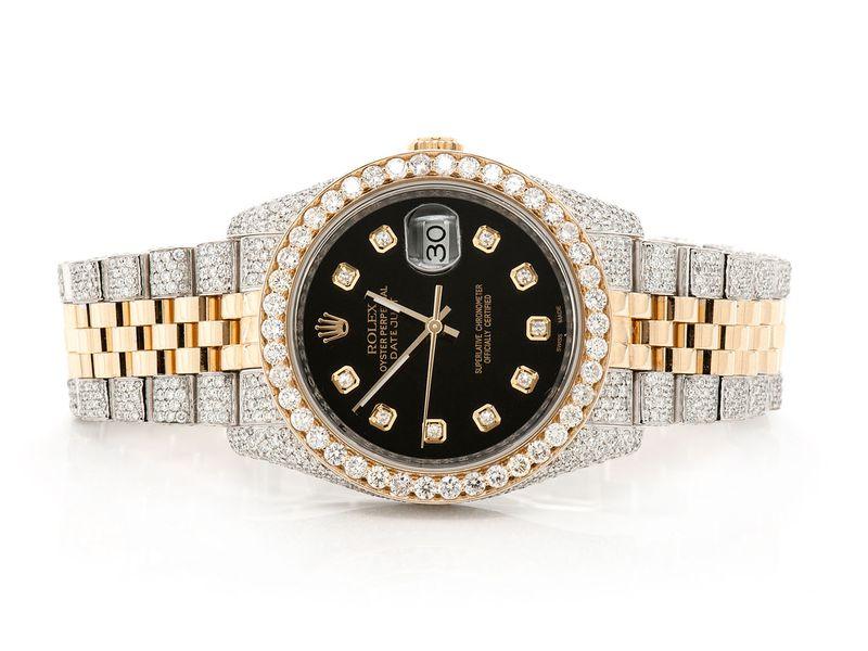 Rolex Datejust 10.46ctw 18K/SS