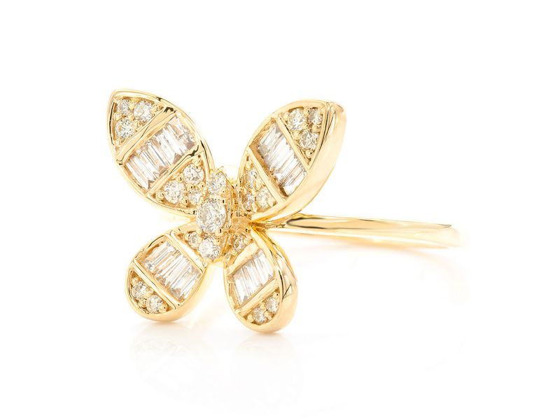 Butterfly Ring 14k   0.70ctw