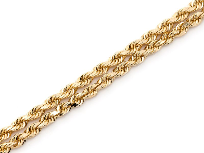2.5mm Rope 14K   Chain