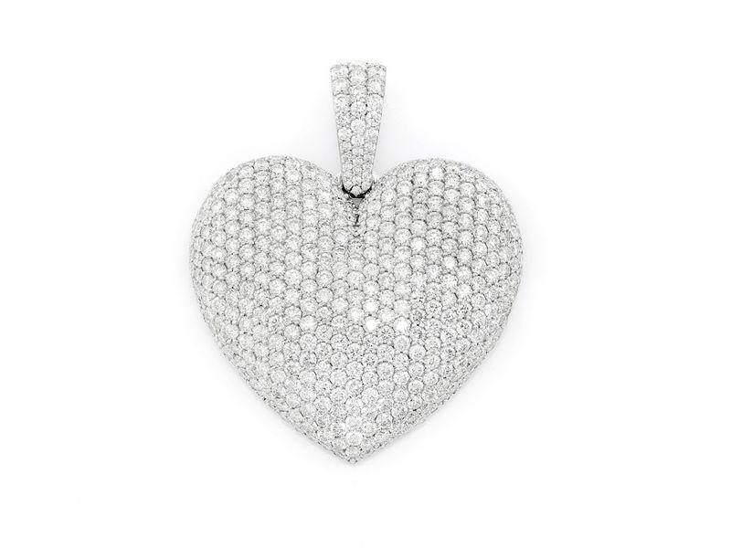 Rene Bubbly Heart Pendant 14K   6.56ctw