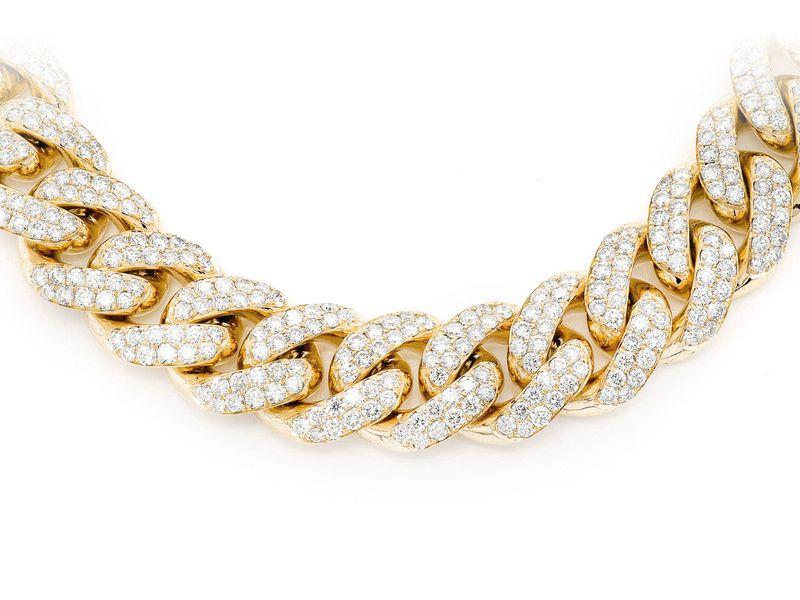 20mm Diamond Miami Cuban Necklace 14K   70.54ctw