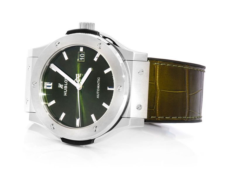 Hublot Classic Fusion Stainless  Brown Strap