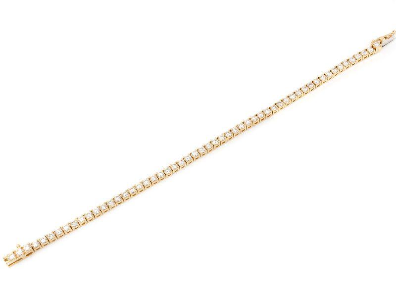 10Pt Prong Set Bracelet 14K   4.50ctw