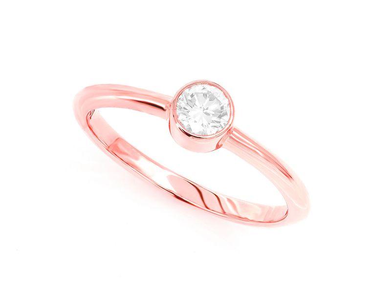 Bezel Ring 14K   0.25ctw