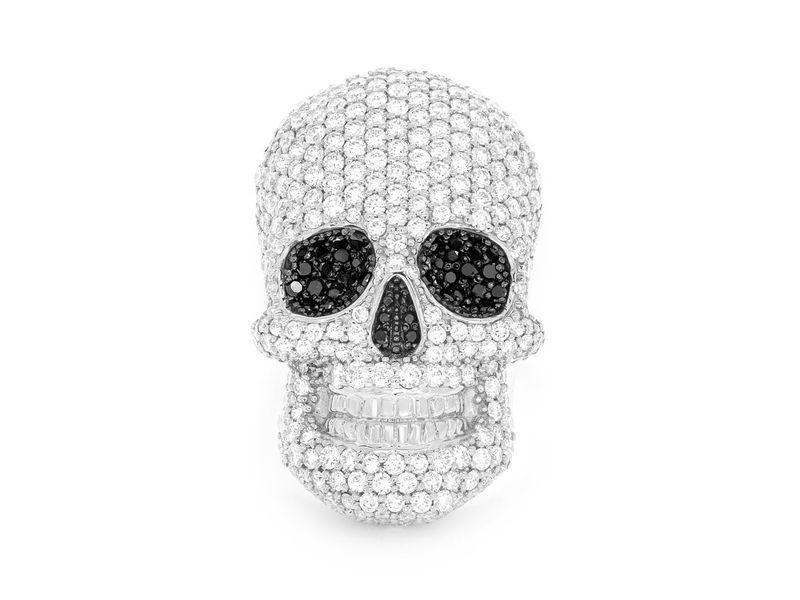 Skull Signet Ring 14K   4.00ctw