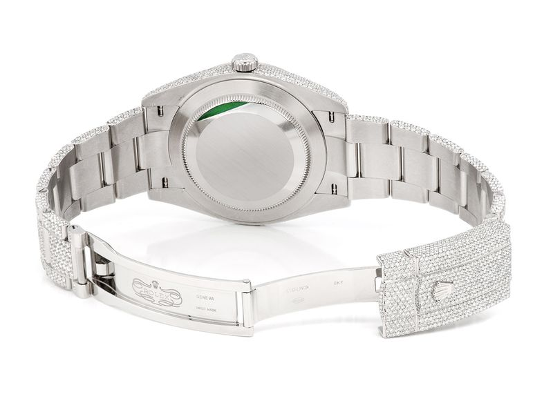 Pre-owned Rolex Datejust 41MM SS  20.75ctw
