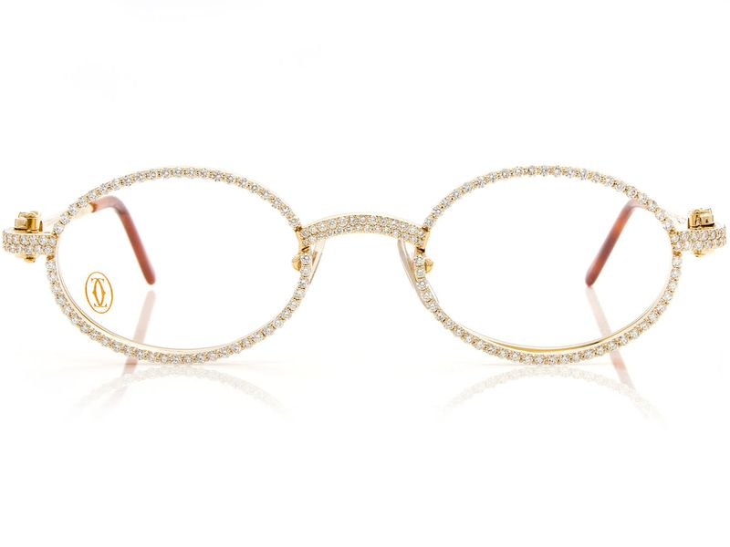 Cartier Iced Out Glasses 14K 7.42ctw