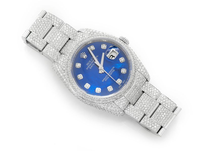 Pre-owned Rolex Datejust 36mm SS  14.44ctw