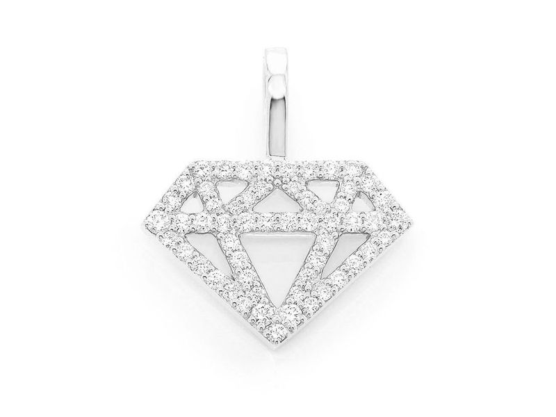 Diamond Silhouette Pendant 14K   0.35ctw