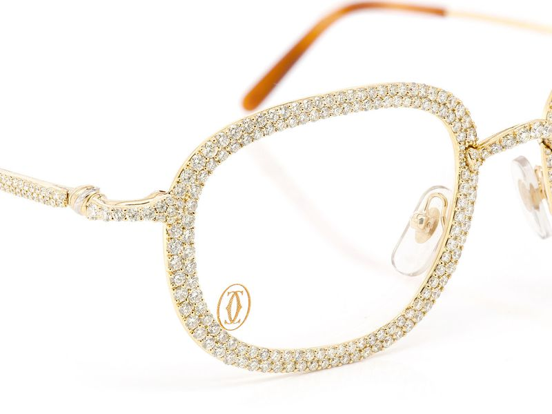 Hades 2 Row Cartier Glasses 14K 15.44ctw