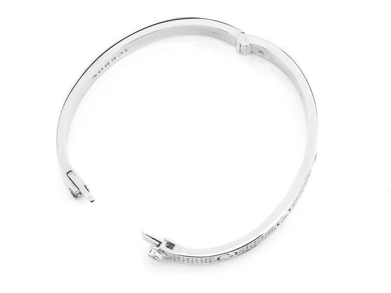 Signature Bangle Half Diamond Bracelet 14K   2.98ctw