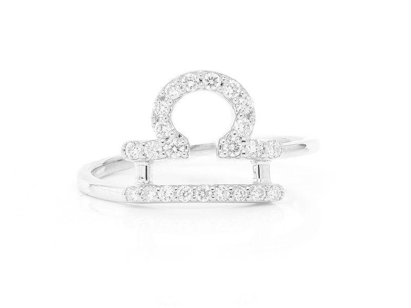 Libra Zodiac Ring 14K   0.11ctw