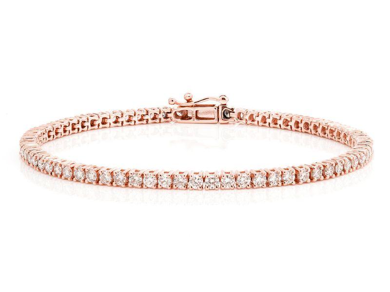 5Pt Prong Set Bracelet 14K   3.30ctw