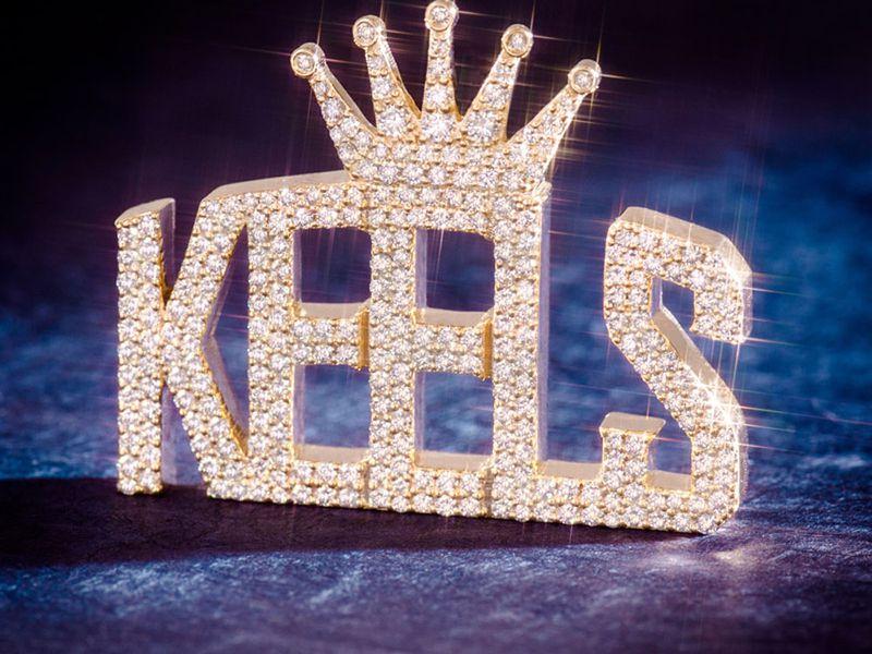 Custom Rounded Top Kings Crown Bail Pendant 14K