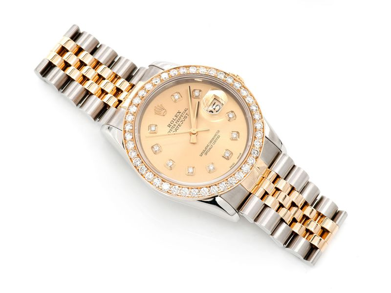 Pre-owned Rolex Datejust 36mm 18K  2.04ctw