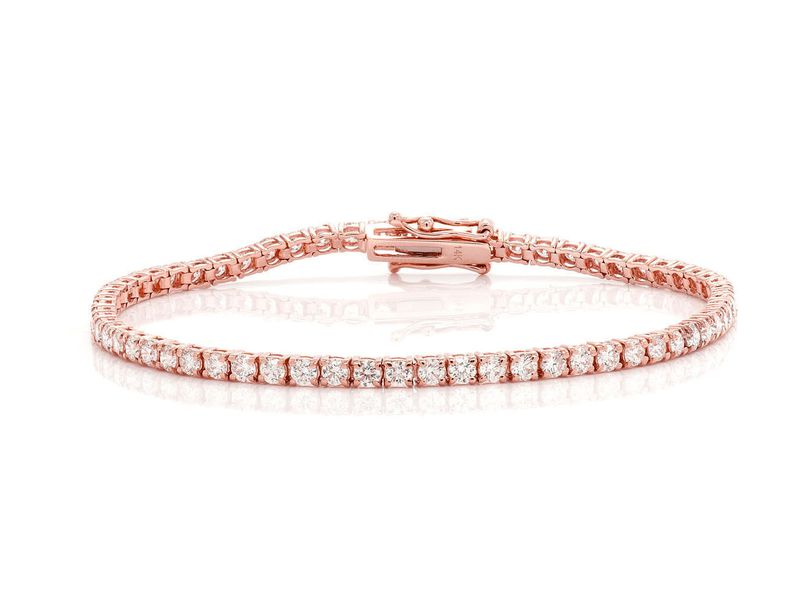 Tennis Bracelet 14K   3.80ctw