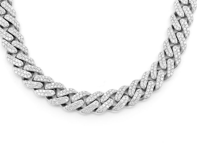 10mm Diamond Miami Cuban Necklace 14K   13.92ctw