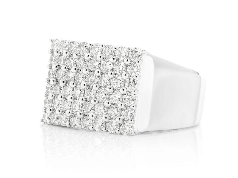 Rectangle Diamond Ring 14K   1.79ctw