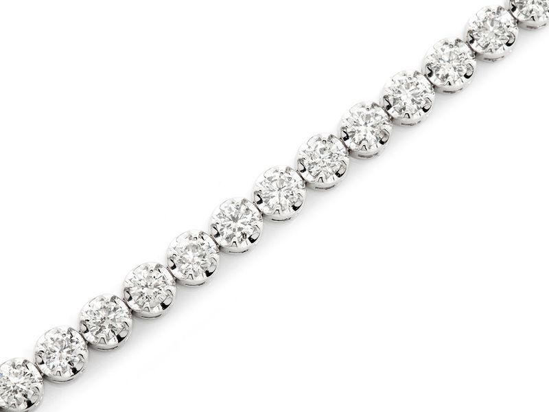 18ptr Bracelet 14K   7.47ctw