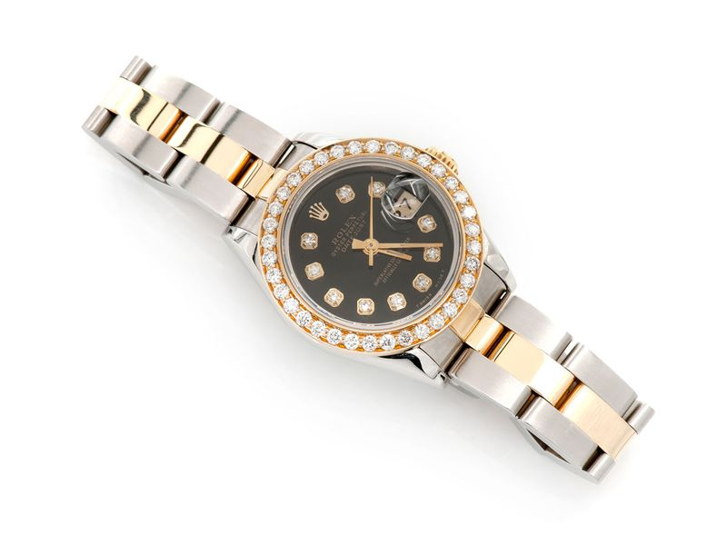 Pre-owned Rolex Datejust 26mm 18K/SS  0.93ctw