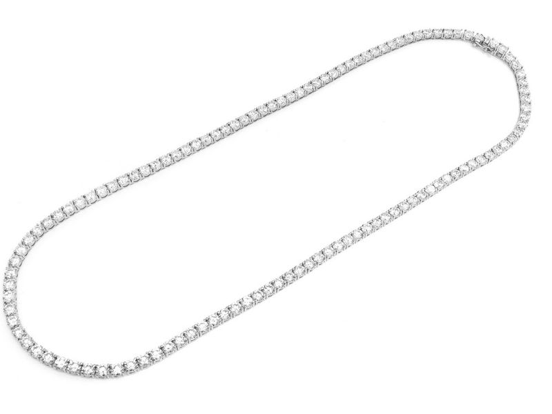 Diamond Tennis Chain 4.8mm Necklace 18K  45.18ctw