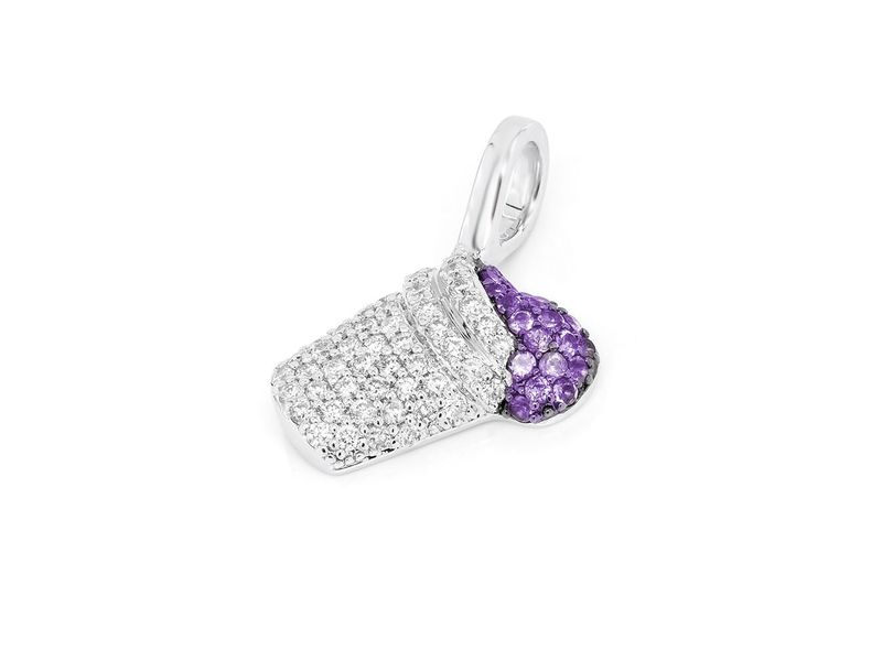 Purple Double Cup Pendant 14K   0.24ctw
