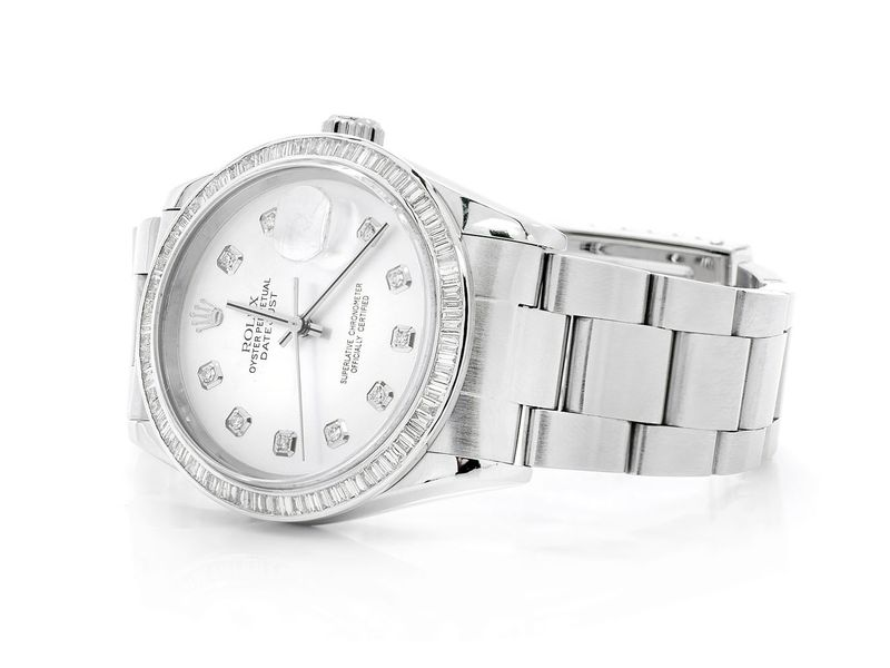 Pre-owned Rolex Datejust 36mm SS  1.23ctw